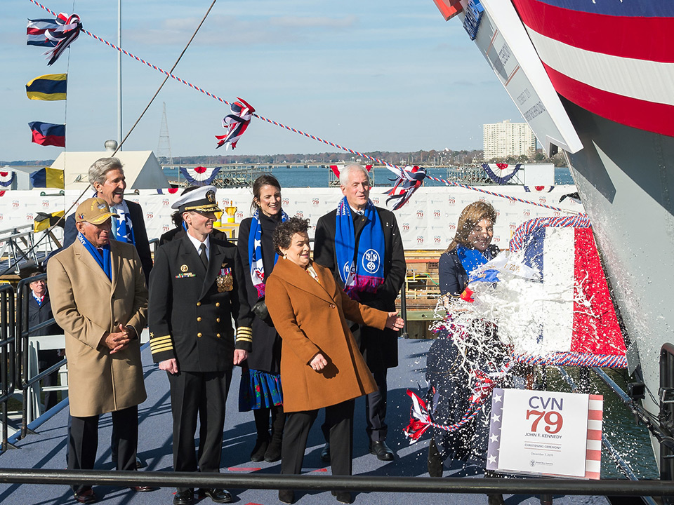 Christening of the John F. Kennedy (CVN 79)